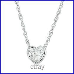 0.80 Ct Heart Shape Cut Diamond Solitaire Pendant 10K Yellow Gold Without Chain