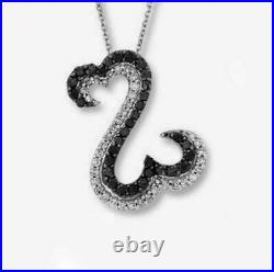14K White Gold Over 1.00 Ct Round Cut Diamond Open Your Heart Pendant Necklaces