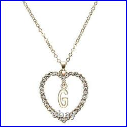 1.00CT Round Cut Diamond G Letter Pendant 14k Yellow Gold Over