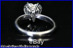 1.50 Ct Heart Cut Solitaire Engagement Wedding Promise Ring Solid 14K White Gold