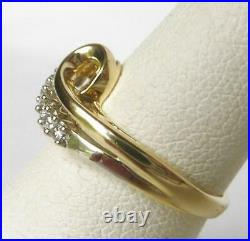 1.50 Ct Round Cut D/VVS1 Diamond With 14K Yellow Gold Over Cluster Heart Ring