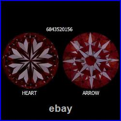 1.71ct GIA CERTIFIED TRIPLE EXCELLENT CUT DIAMOND IDEAL ROUND HEARTS & ARROWS