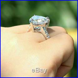 2.70 Ct Diamond Engagement Ring Solitaire 14k White Gold Over Excellent Cut