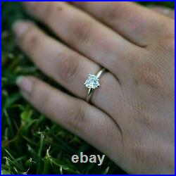 2.90Ct Heart cut Solitaire Heart Cut Diamond Engagement Ring 14K White Gold Over