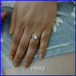 2.91Ct Heart cut Solitaire Heart Cut Diamond Engagement Ring 14K White Gold Over