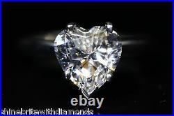 3.50 Ct Heart Cut Solitaire Engagement Wedding Promise Ring Solid 14K White Gold