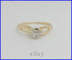 40CT Heart Cut Diamond Solitaire Engagement Wedding Bridal Ring 14K Yellow Gold