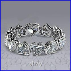 4 Ct Brilliant Heart Cut Engagement Ring Eternity Love Band 925 Sterling Silver