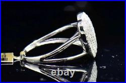 Diamond Heart Fashion Cocktail Ring 10K White Gold Domed Round Cut 1/2 Ct
