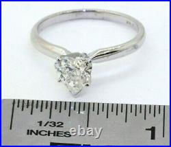 EGL USA certified 14K WG 1.0CT SI2/F Heart cut diamond solitaire ring size 7.5