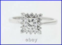 HEARTS ON FIRE Platinum AGS Cert. 95ct Dream Cut Diamond Halo Engagement Ring