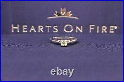 Hearts on Fire Dream Cut Diamond Engagement Ring 0.44 cts 18k White Gold
