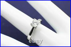 Hearts on Fire Dream Cut Diamond Platinum Engagement Ring 0.64 ct H SI1