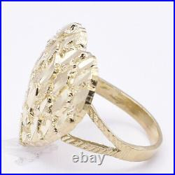 Women's Huge Heart Diamond Cut Engagement Ring Real Solid 10K Yellow Gold